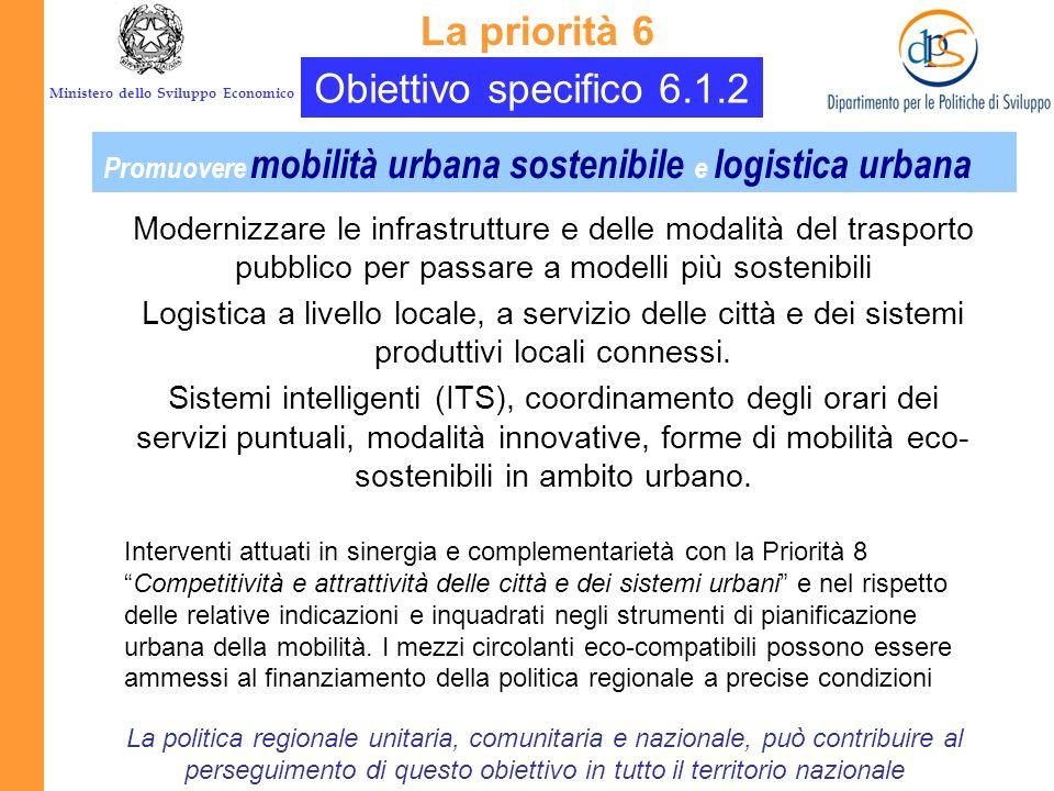 La priorità 6 Obiettivo specifico 6.1.2