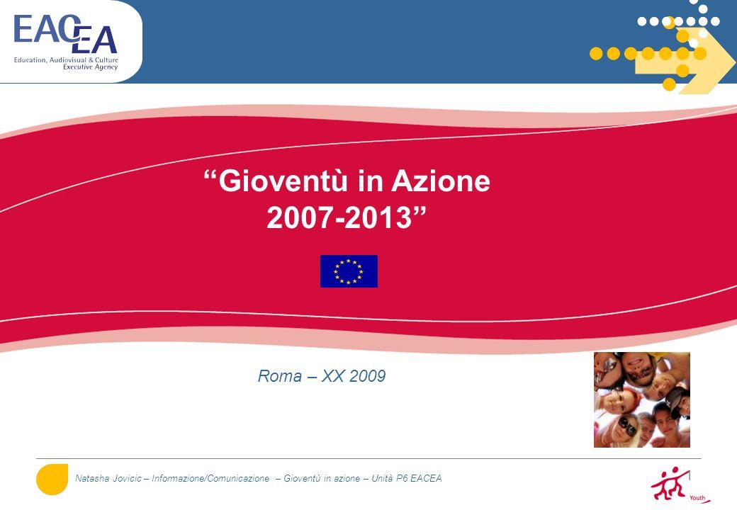 Gioventù in Azione 2007-2013 Roma – XX 2009