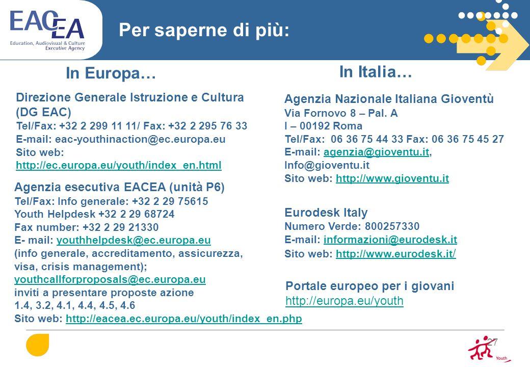 Per saperne di più: In Europa… In Italia…