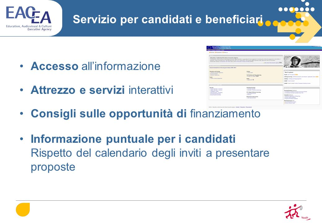 Servizio per candidati e beneficiari