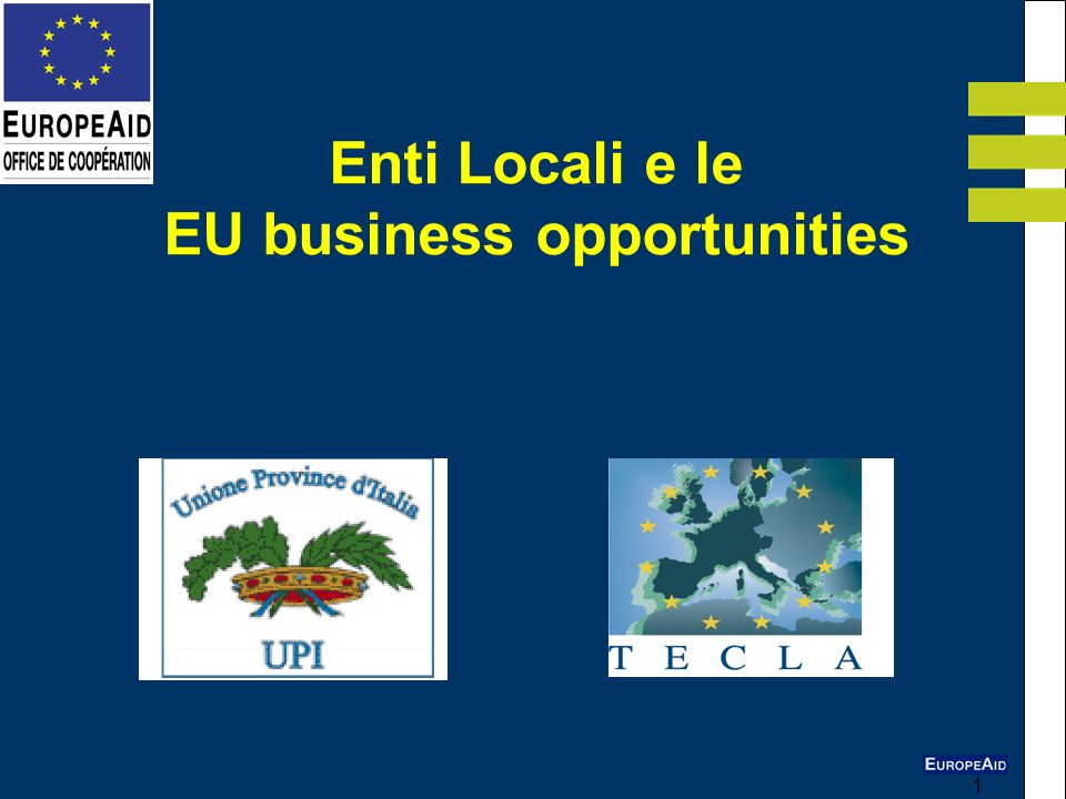 Enti Locali e le EU business opportunities
