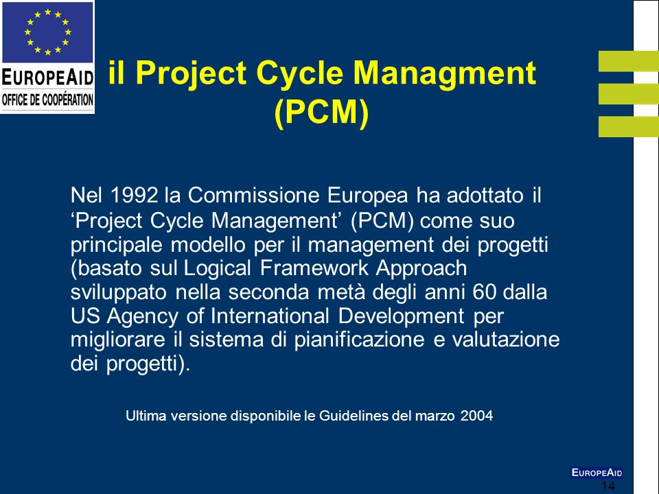 il Project Cycle Managment (PCM)