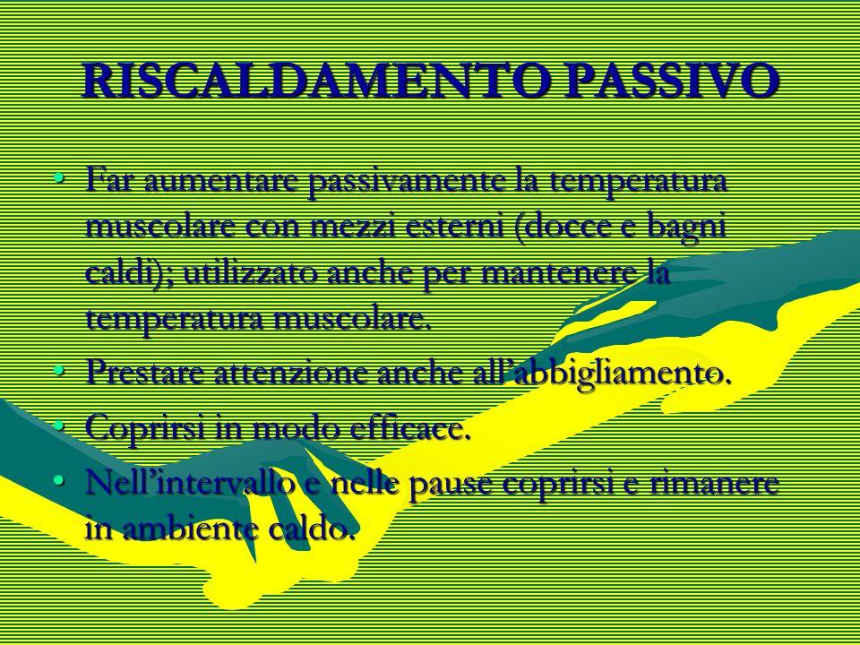 RISCALDAMENTO PASSIVO