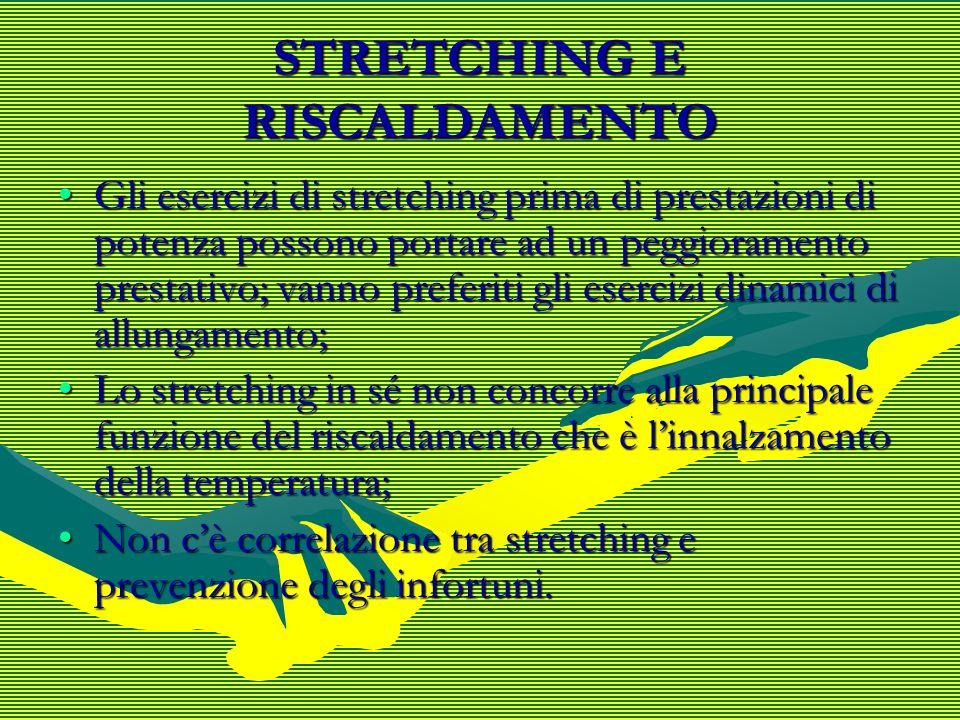 STRETCHING E RISCALDAMENTO