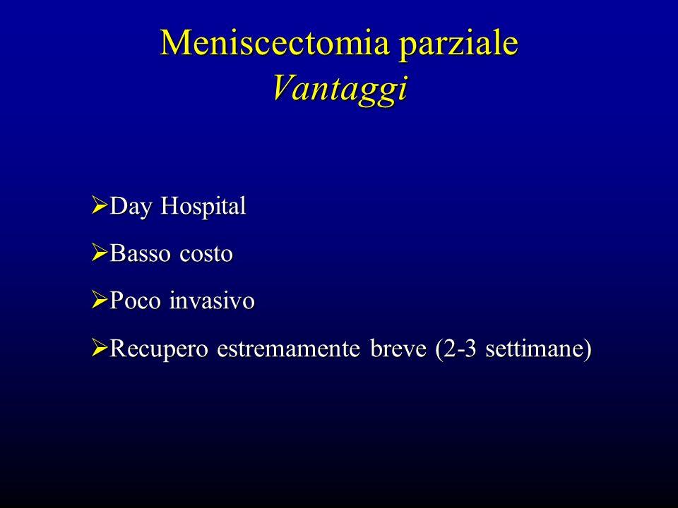Meniscectomia parziale Vantaggi