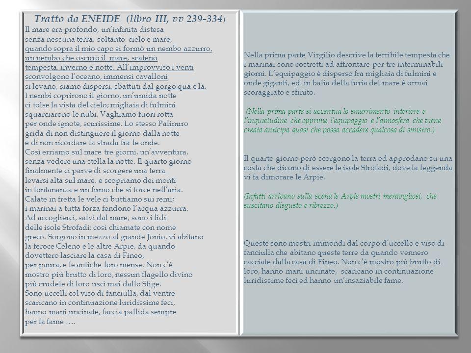 Tratto da ENEIDE (libro III, vv 239-334)