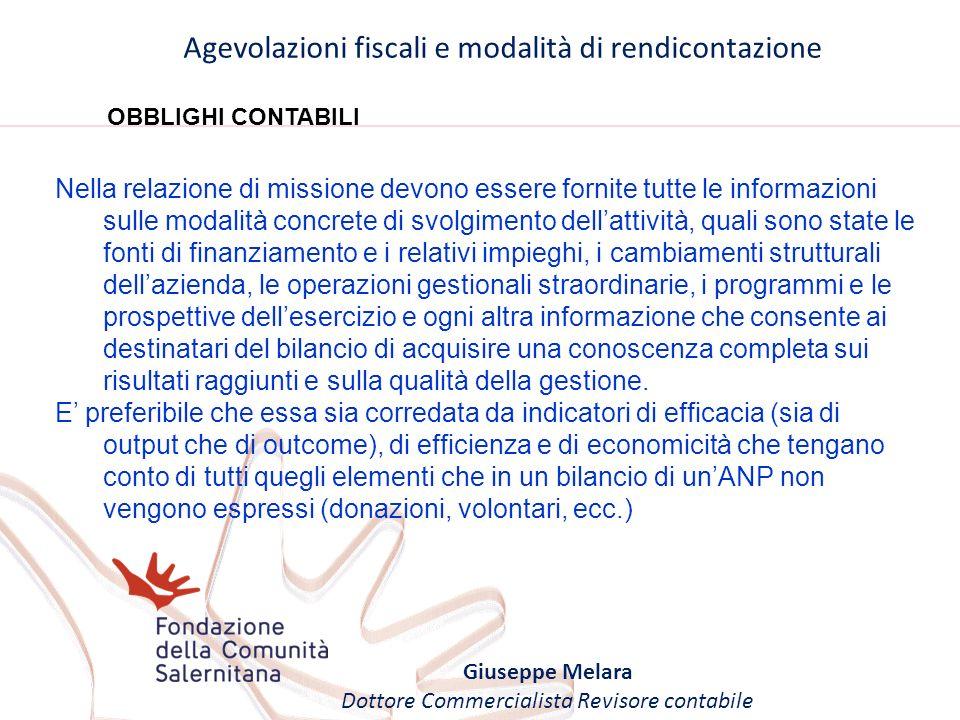Agevolazioni fiscali e modalità di rendicontazione