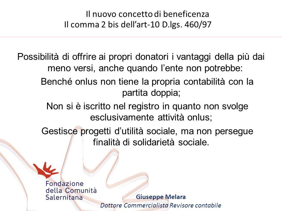 Il nuovo concetto di beneficenza