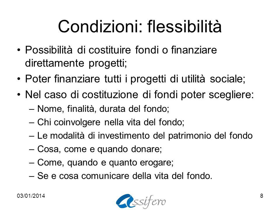 Condizioni: flessibilità