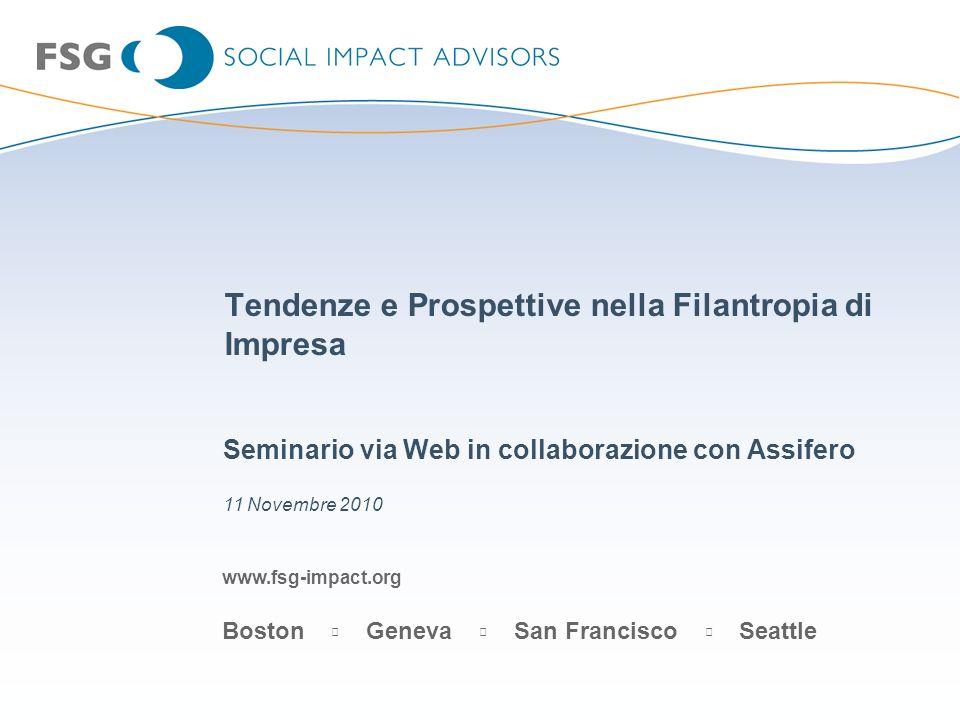 Tendenze e Prospettive nella Filantropia di Impresa
