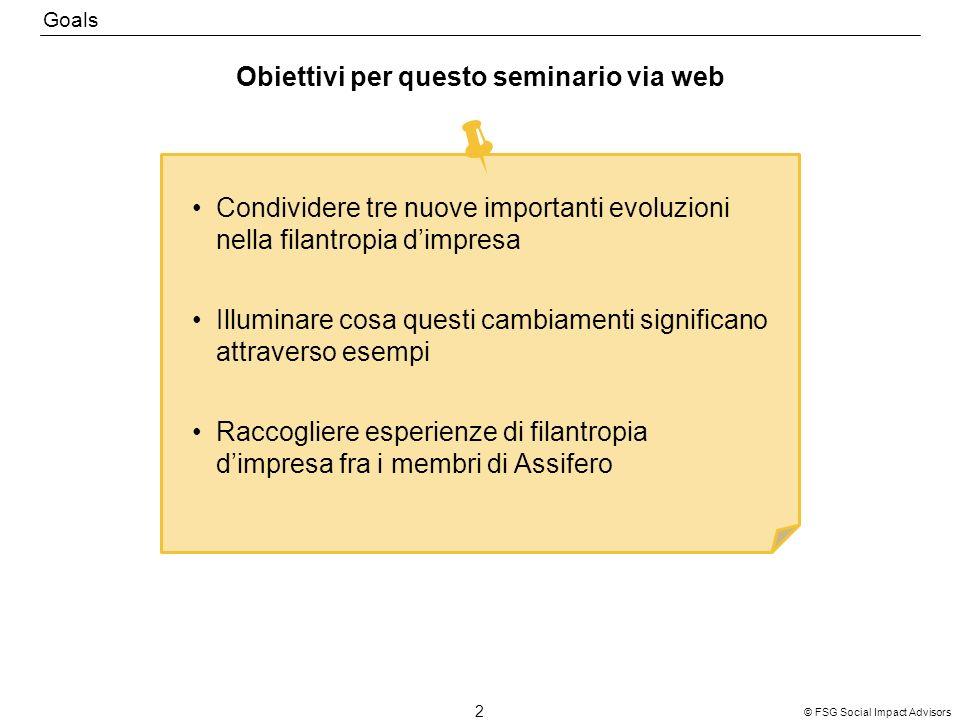 Obiettivi per questo seminario via web