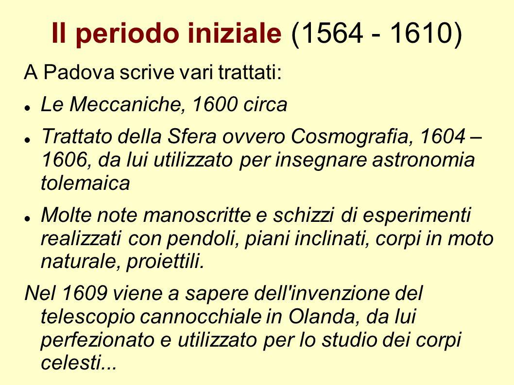 Il periodo iniziale (1564 - 1610)