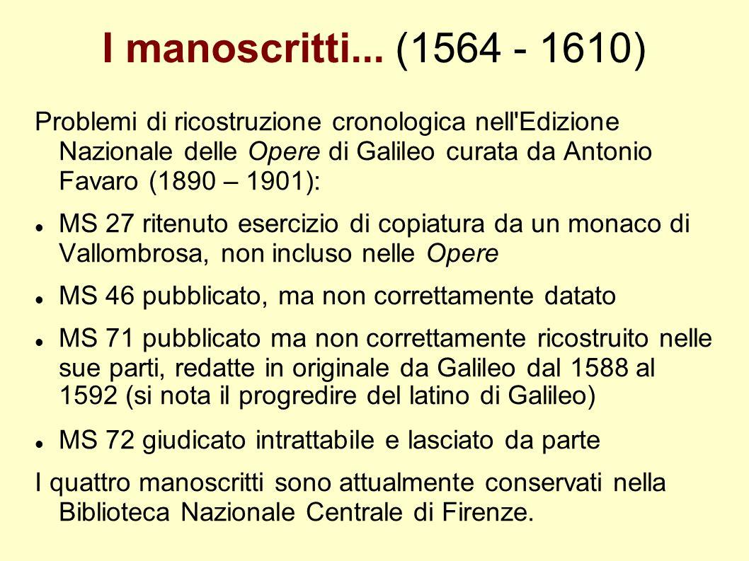 I manoscritti... (1564 - 1610)