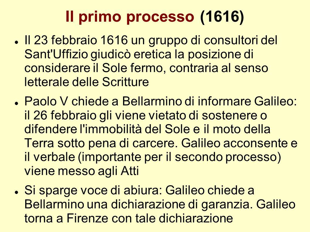 Il primo processo (1616)