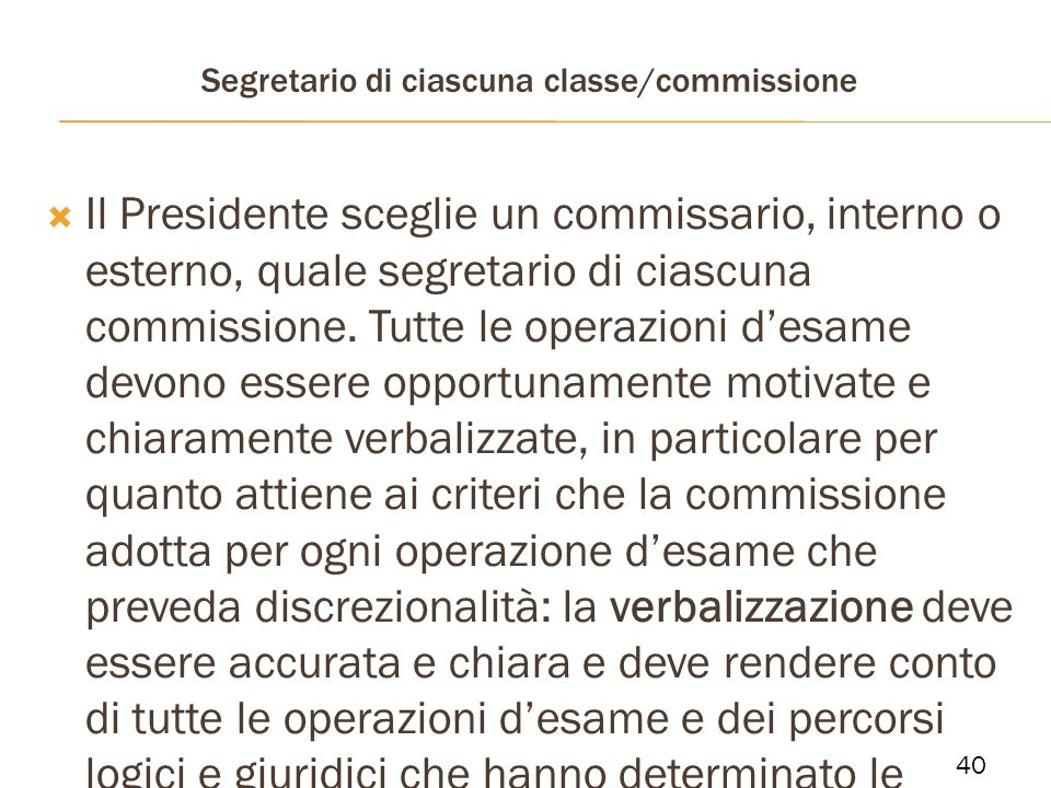 Segretario di ciascuna classe/commissione