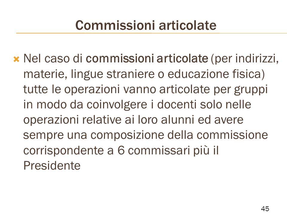 Commissioni articolate