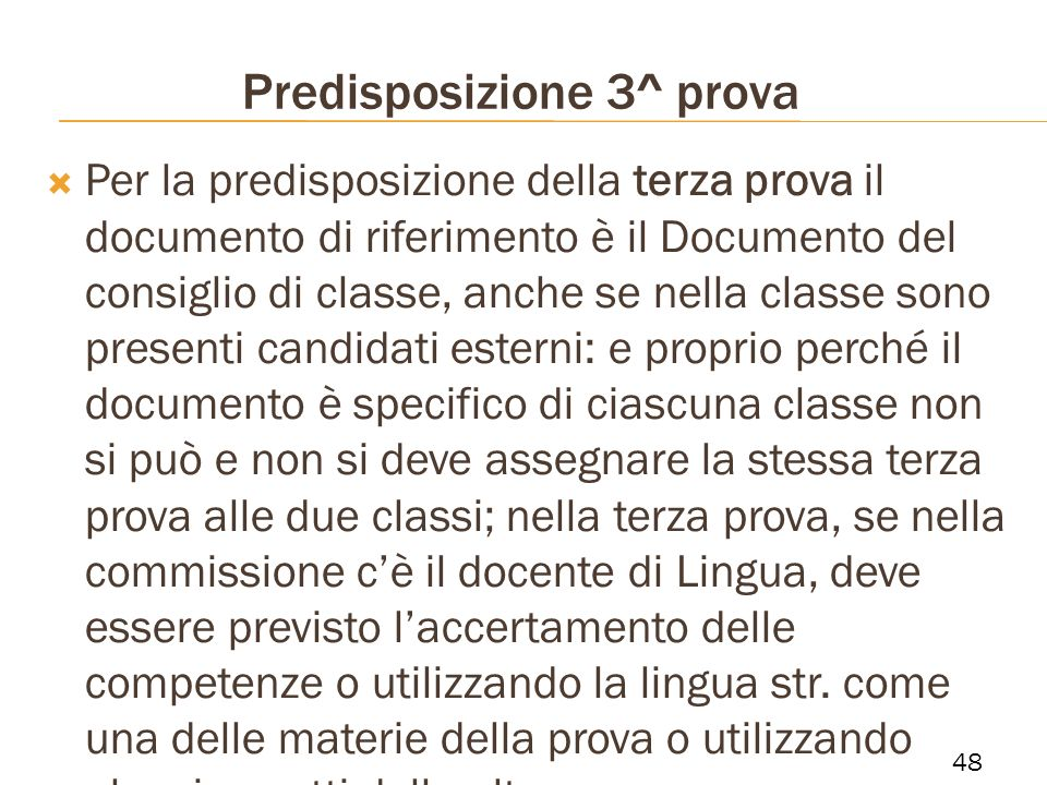 Predisposizione 3^ prova
