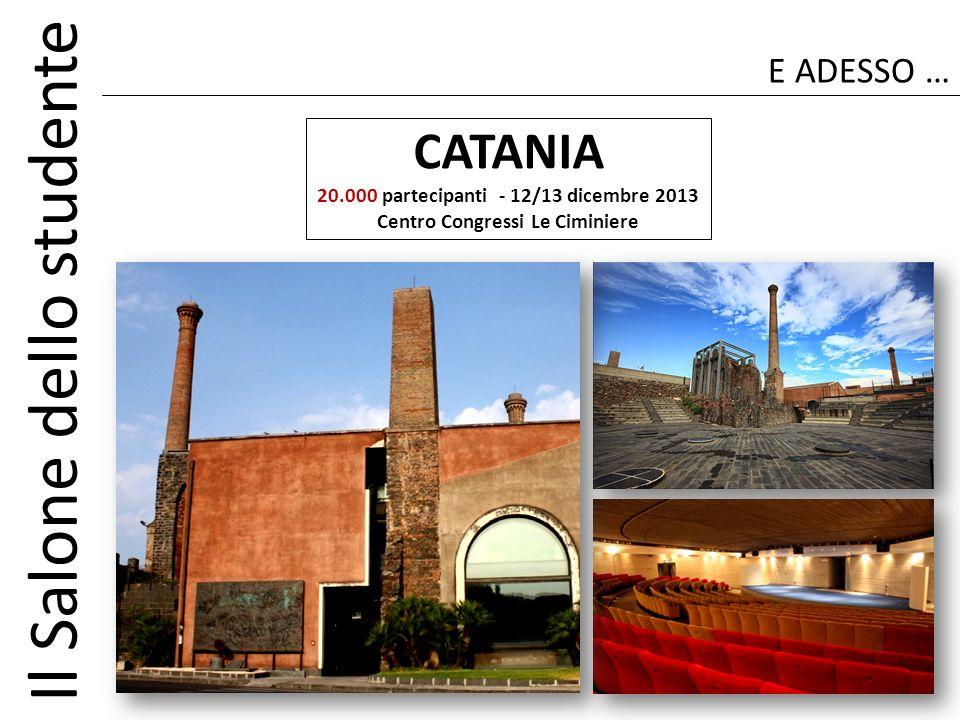 CATANIA E ADESSO … 20.000 partecipanti - 12/13 dicembre 2013