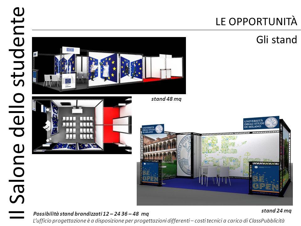 LE OPPORTUNITÀ Gli stand stand 48 mq stand 24 mq