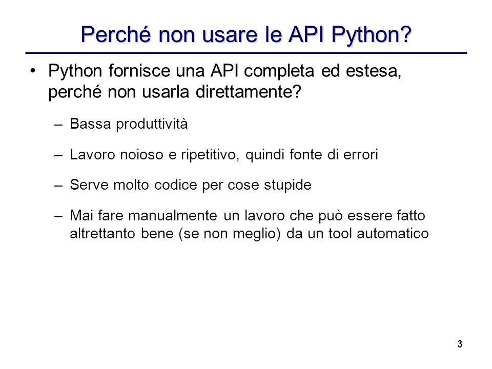 Perché non usare le API Python
