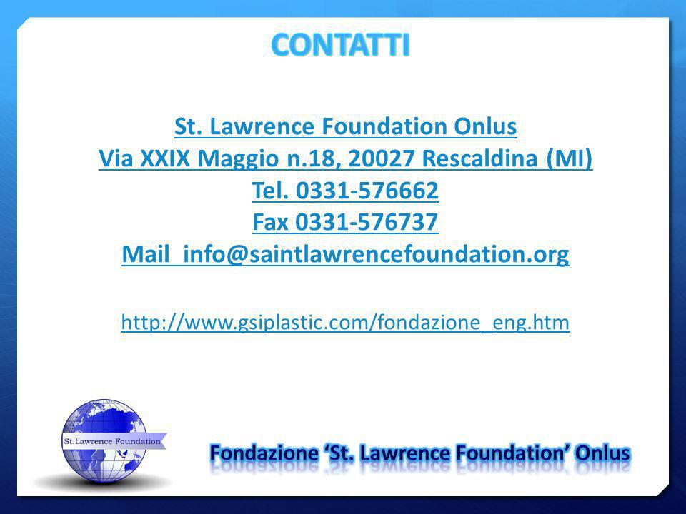 CONTATTI St. Lawrence Foundation Onlus