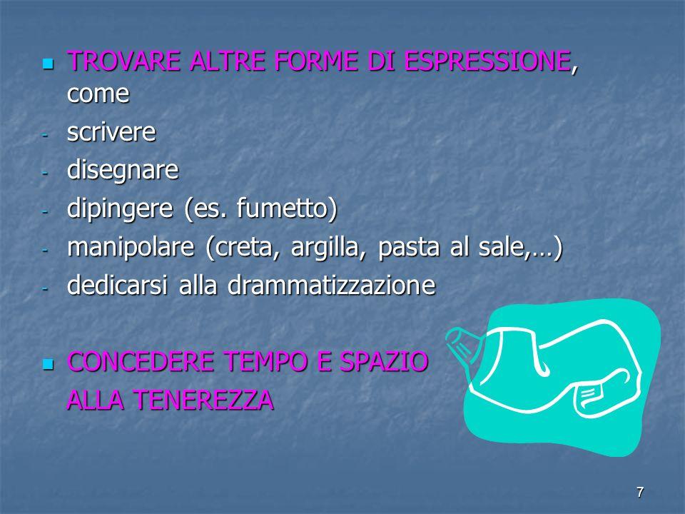 TROVARE ALTRE FORME DI ESPRESSIONE, come