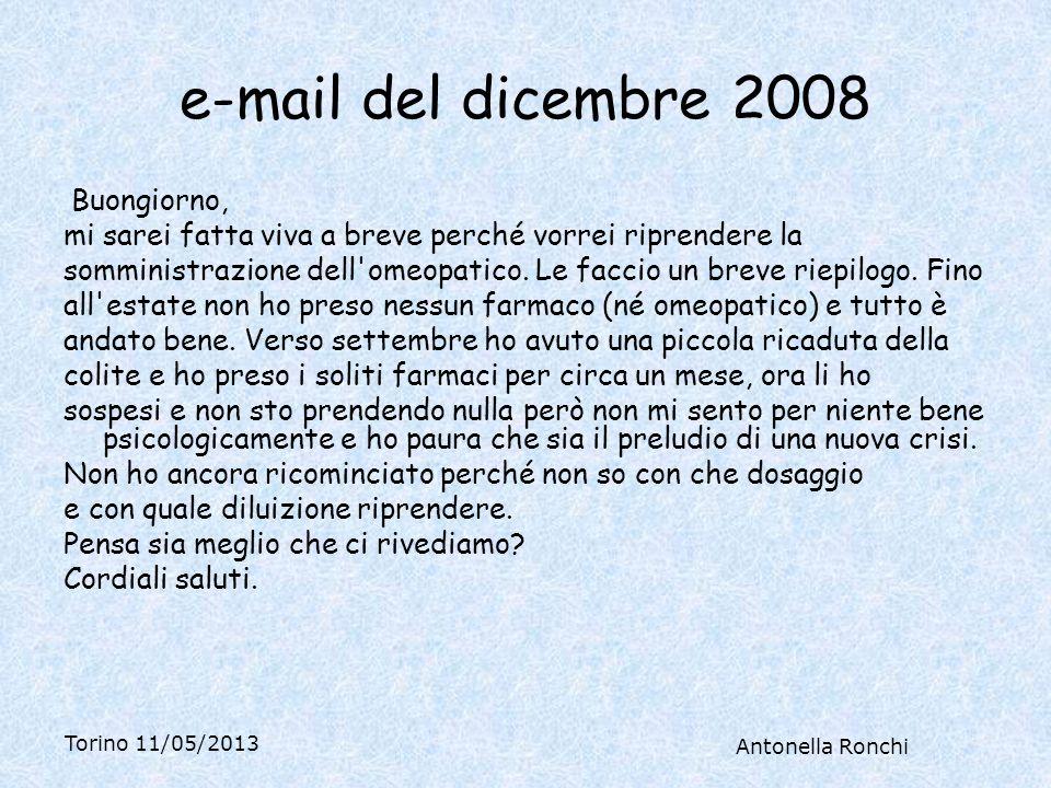 e-mail del dicembre 2008 Buongiorno,