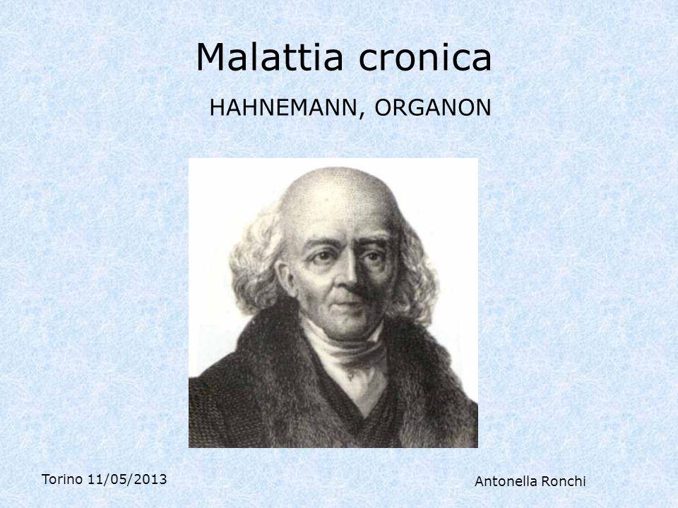 Malattia cronica HAHNEMANN, ORGANON