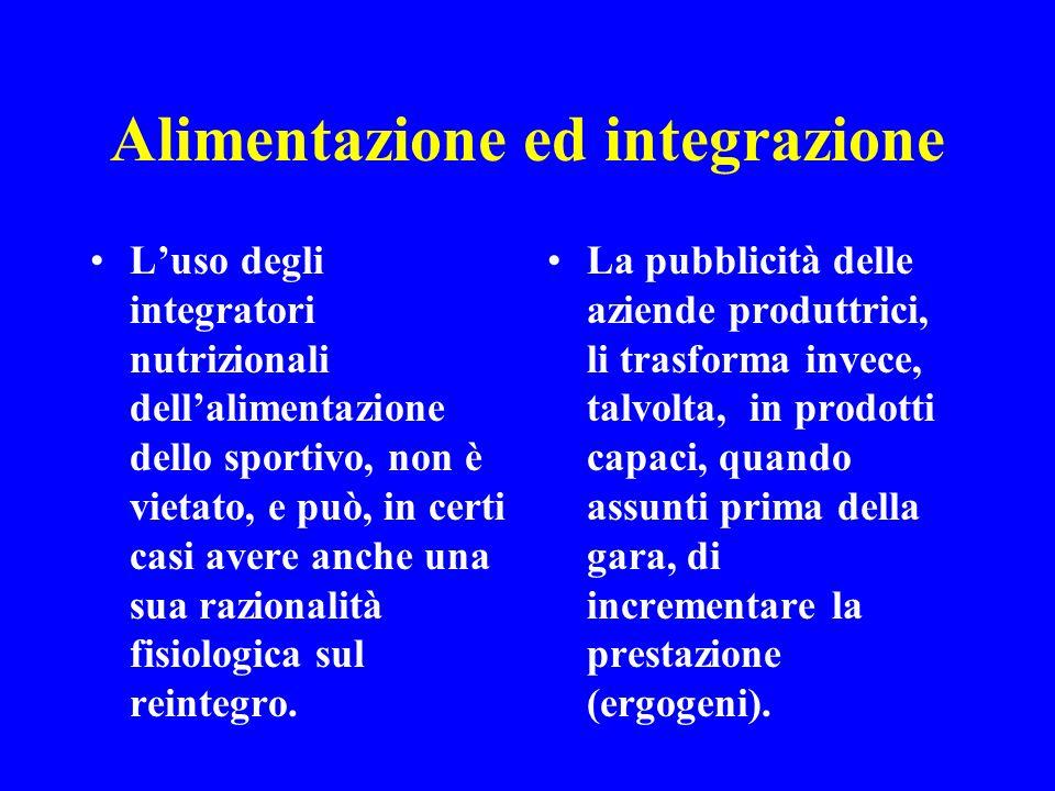 Alimentazione ed integrazione