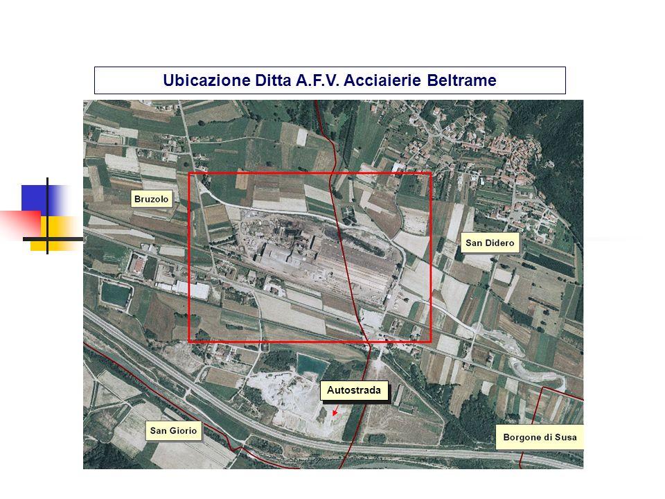 Ubicazione Ditta A.F.V. Acciaierie Beltrame
