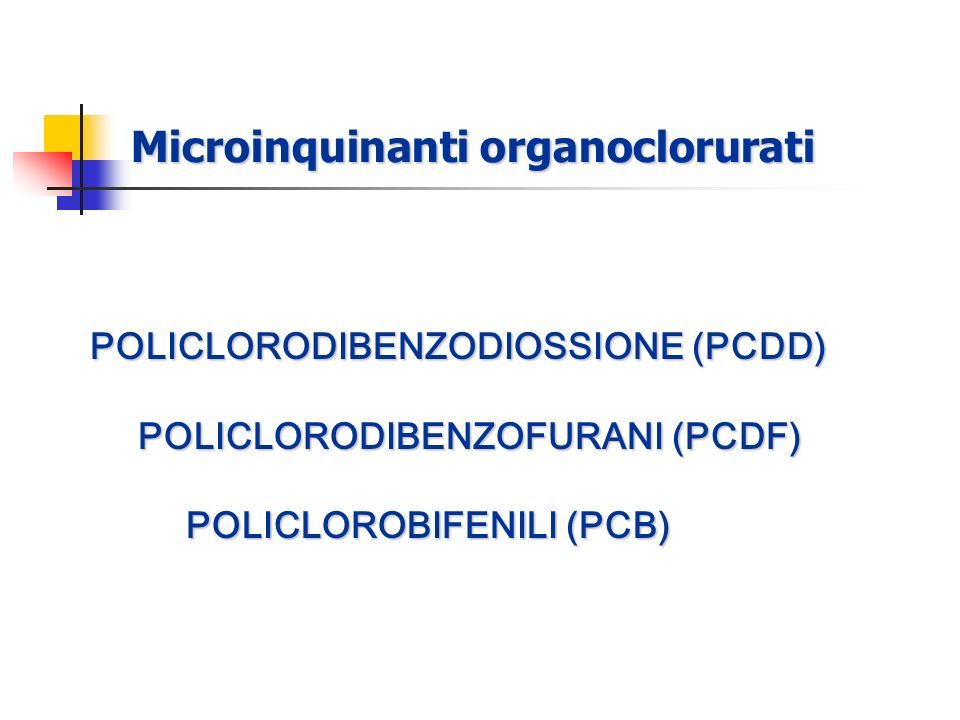 Microinquinanti organoclorurati