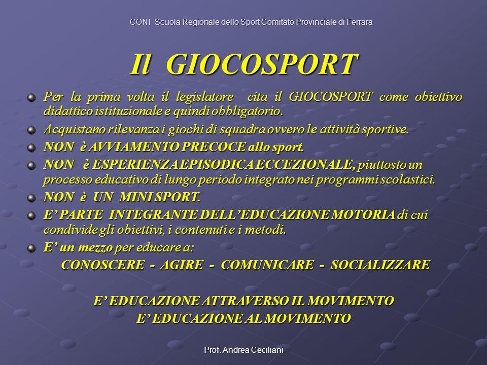 CONI Scuola Regionale dello Sport Comitato Provinciale di Ferrara