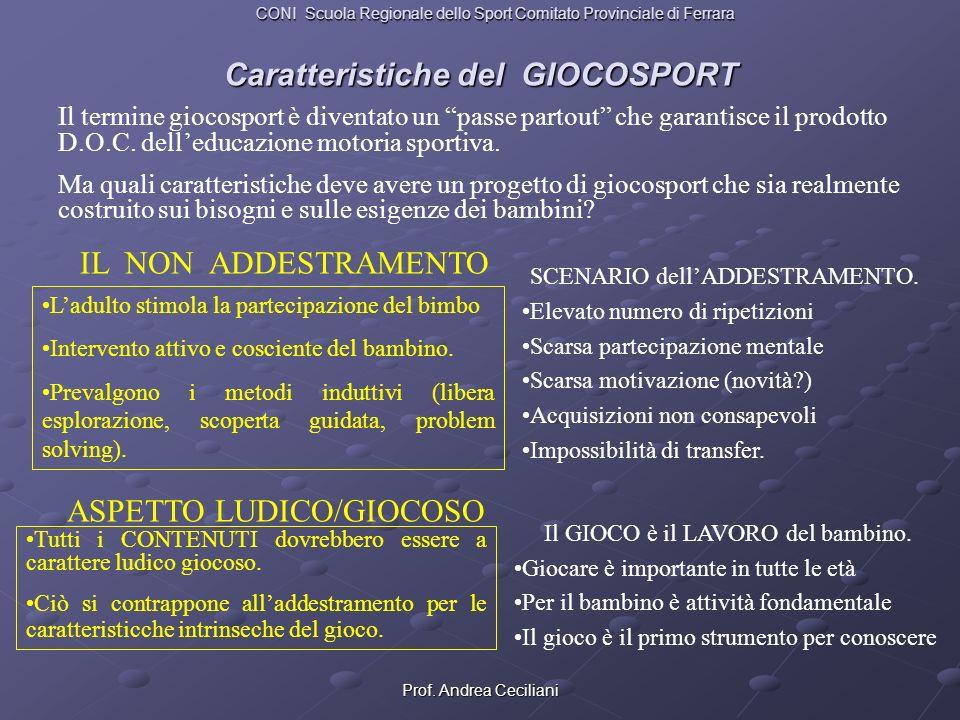 Caratteristiche del GIOCOSPORT