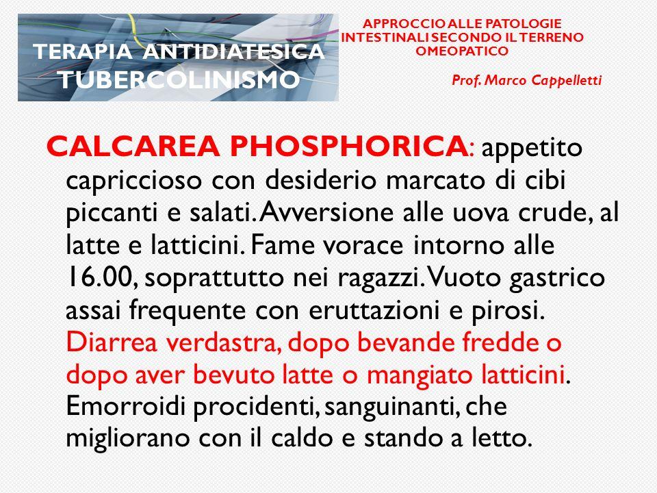 elle APPROCCIO ALLE PATOLOGIE INTESTINALI SECONDO IL TERRENO OMEOPATICO. Prof. Marco Cappelletti. TERAPIA ANTIDIATESICA TUBERCOLINISMO.