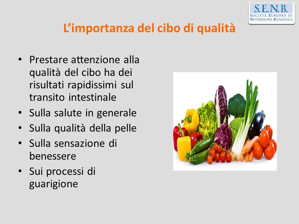L'importanza del cibo di qualità