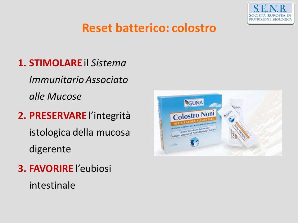 Reset batterico: colostro