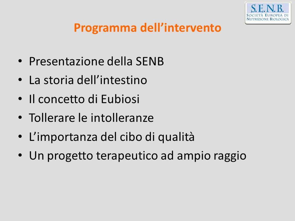 Programma dell'intervento