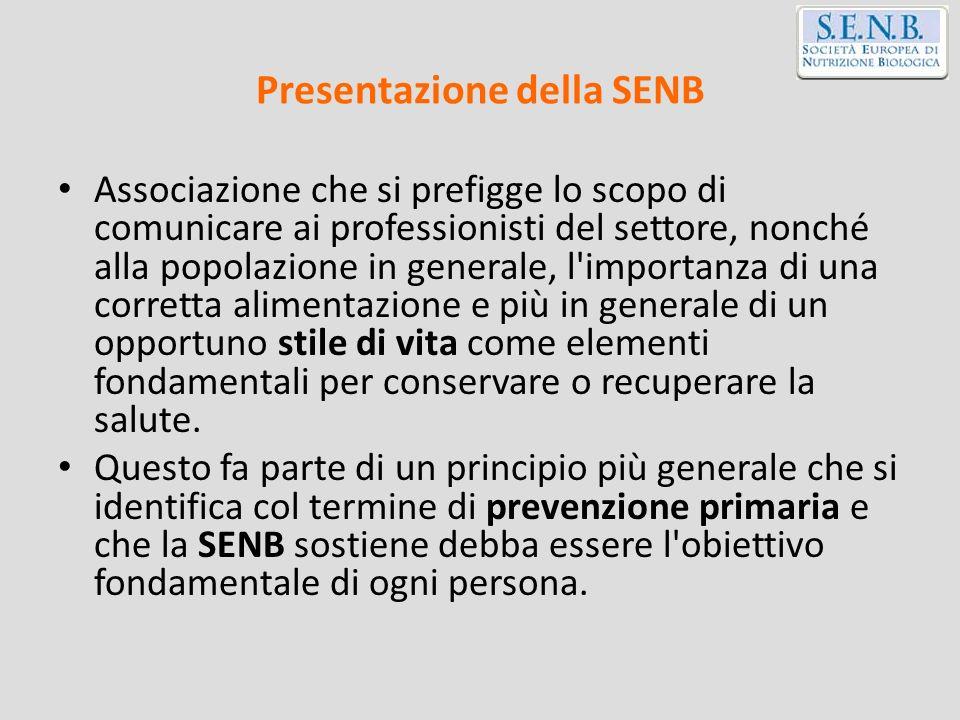 Presentazione della SENB