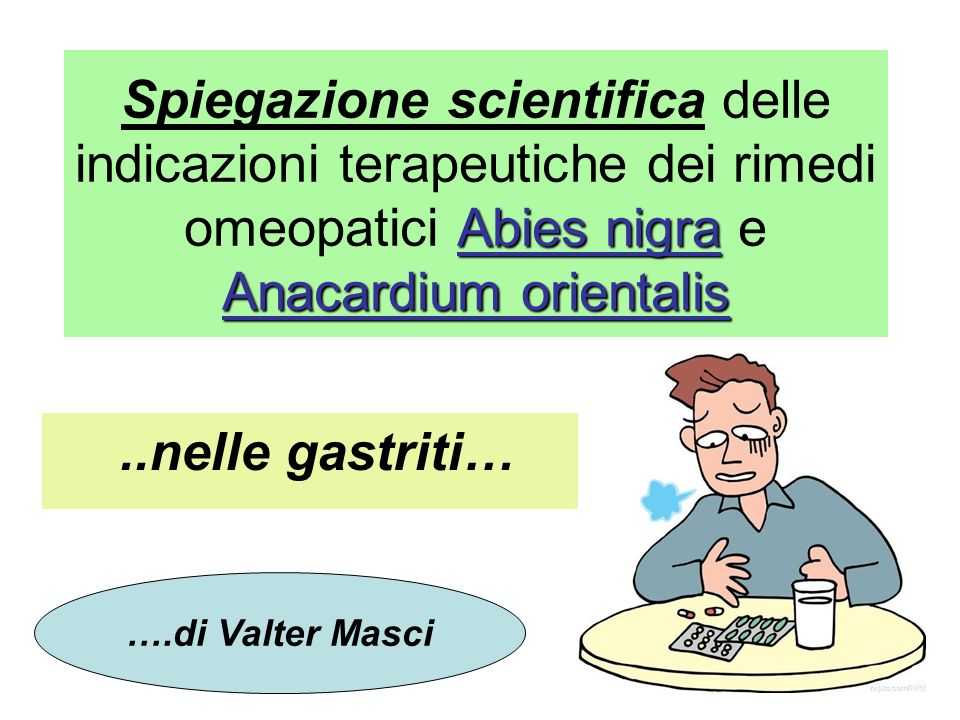 Spiegazione scientifica delle indicazioni terapeutiche dei rimedi omeopatici Abies nigra e Anacardium orientalis
