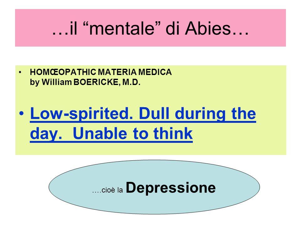 …il mentale di Abies…
