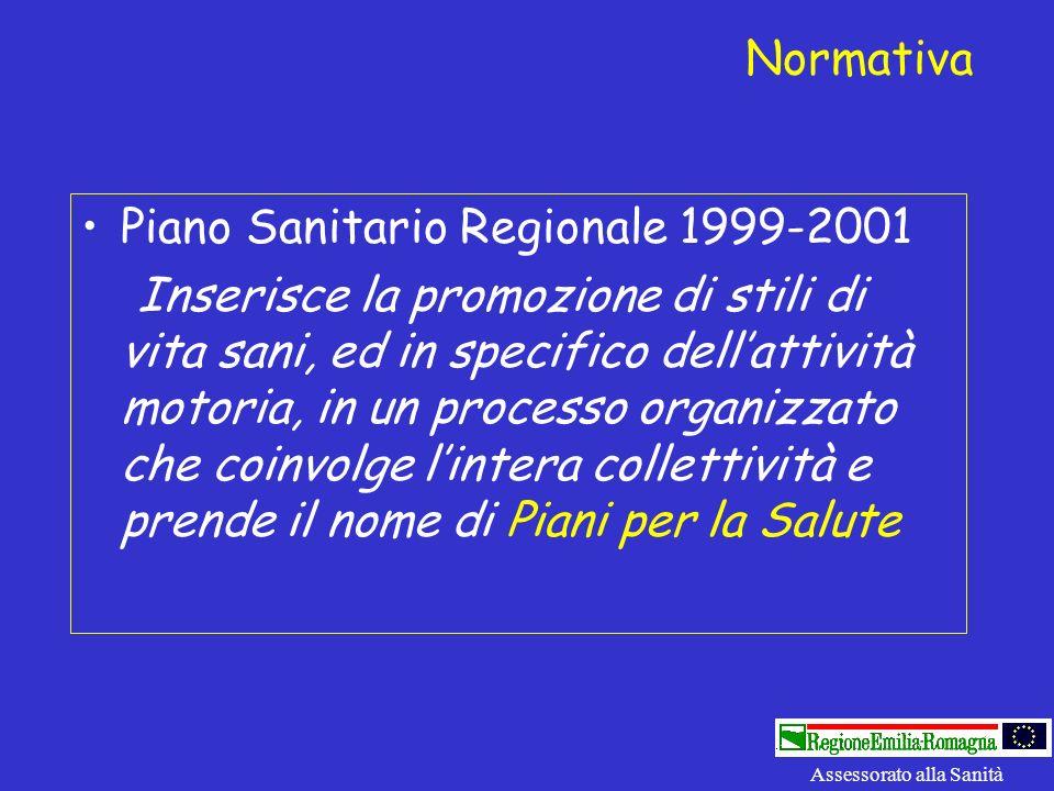 Piano Sanitario Regionale 1999-2001