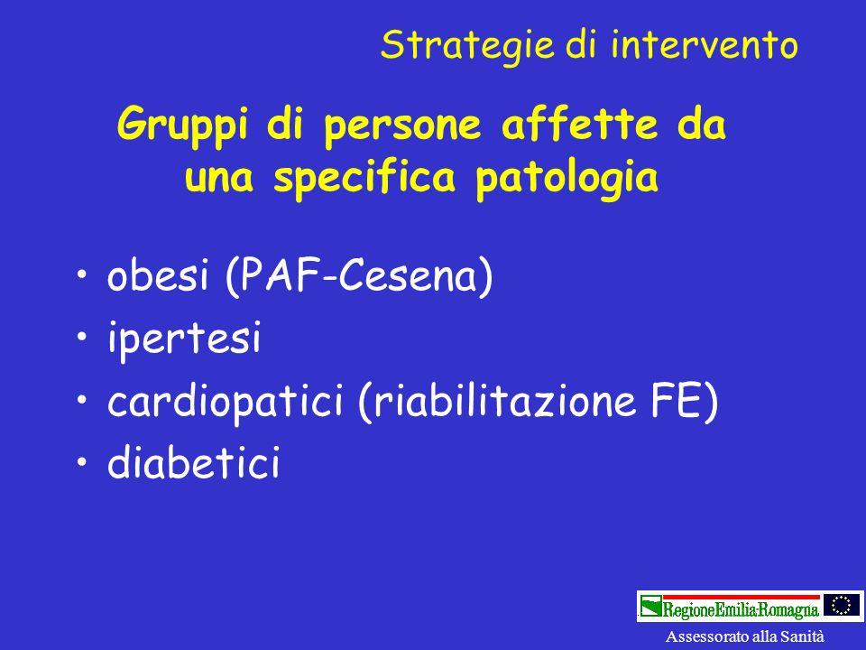 Gruppi di persone affette da una specifica patologia