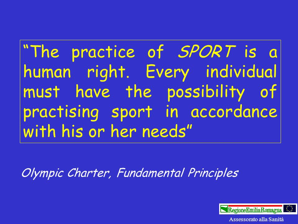 The practice of SPORT is a human right