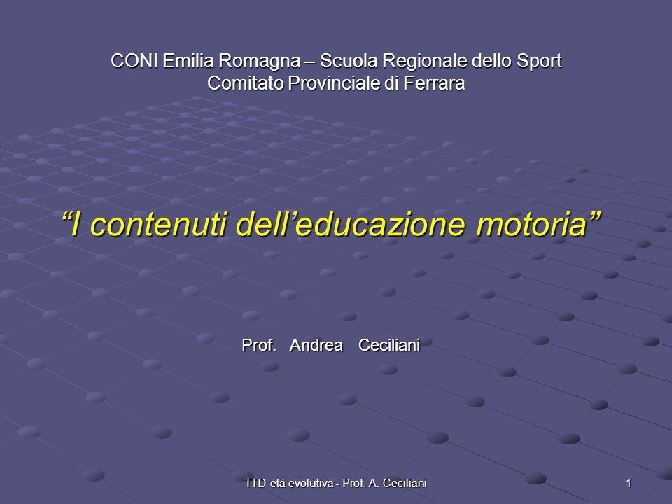 I contenuti dell'educazione motoria