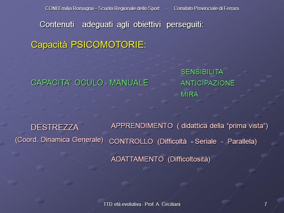 TTD età evolutiva - Prof. A. Ceciliani