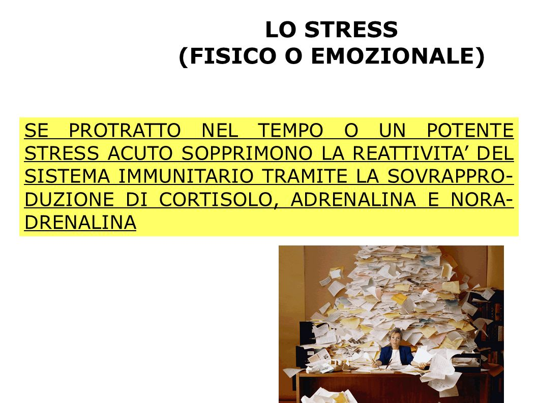 LO STRESS (FISICO O EMOZIONALE)