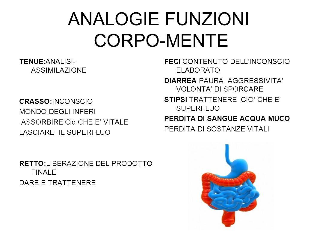 ANALOGIE FUNZIONI CORPO-MENTE