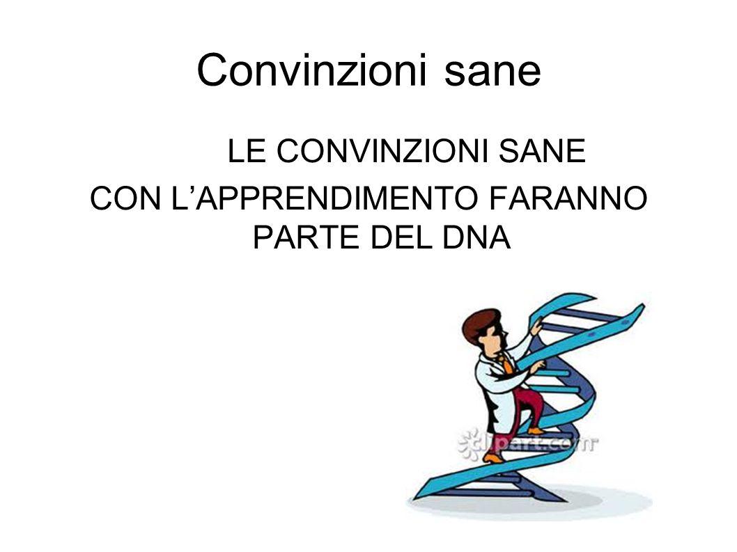 CON L'APPRENDIMENTO FARANNO PARTE DEL DNA