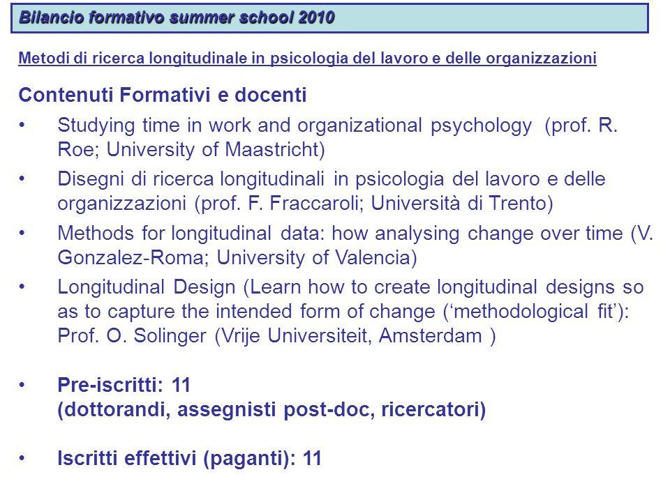 Contenuti Formativi e docenti
