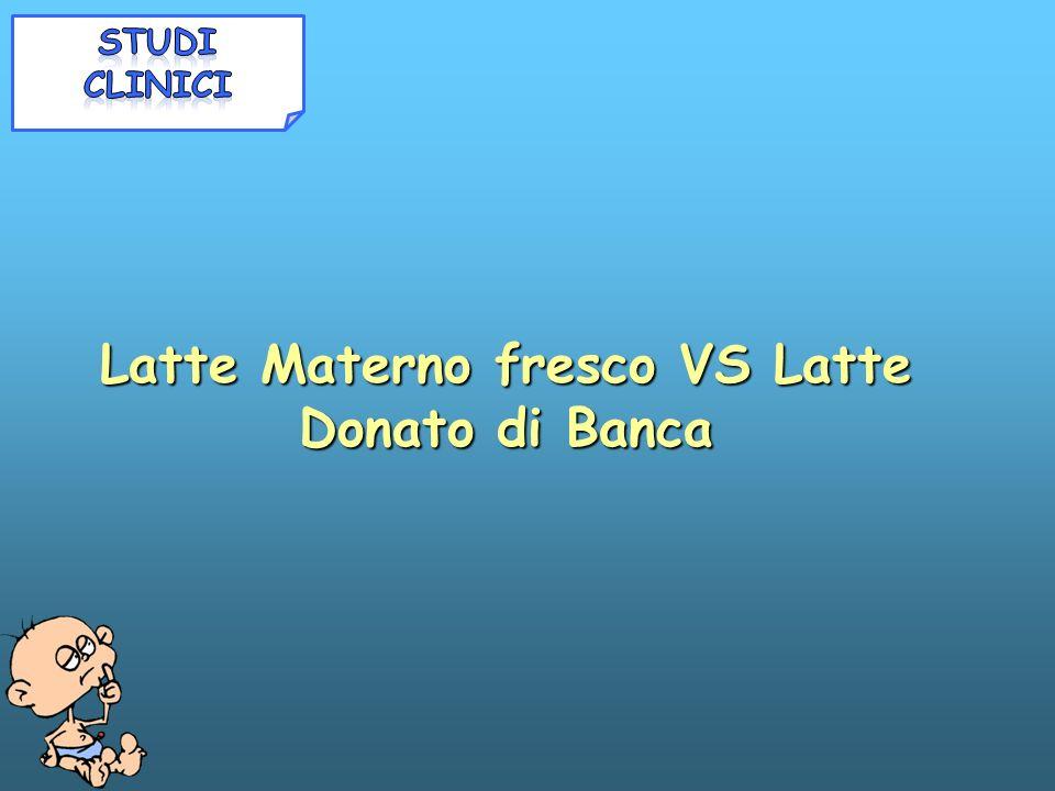 Latte Materno fresco VS Latte Donato di Banca